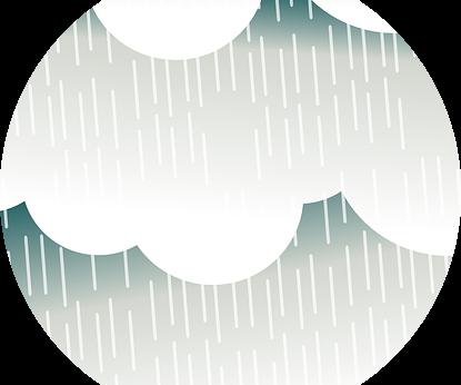 Regn i stride strømme